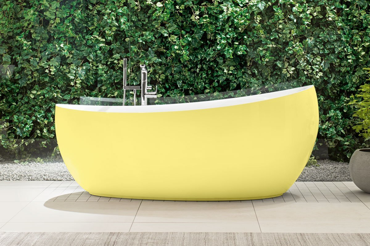 Aveo Free Standing Bath in Yellow