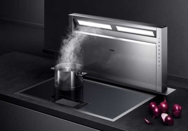 Cooktop - pop-up ventilation