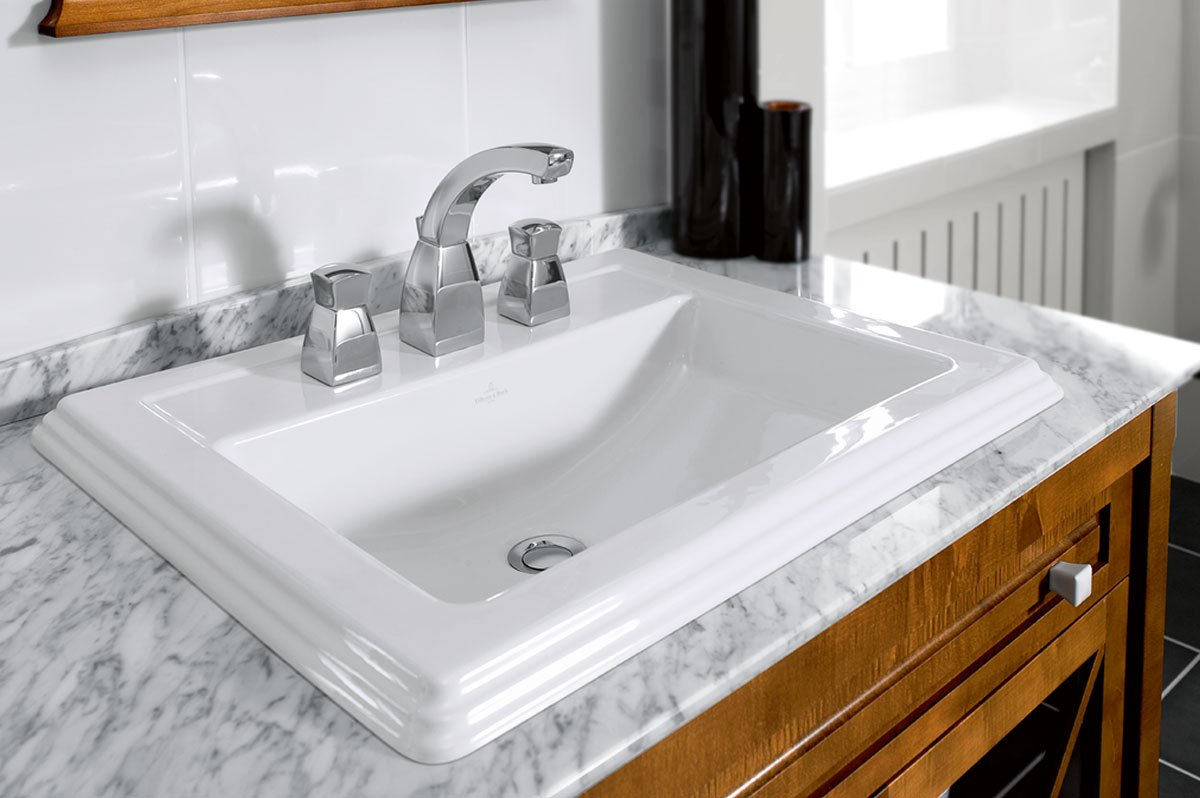Sink with Carrara countertop