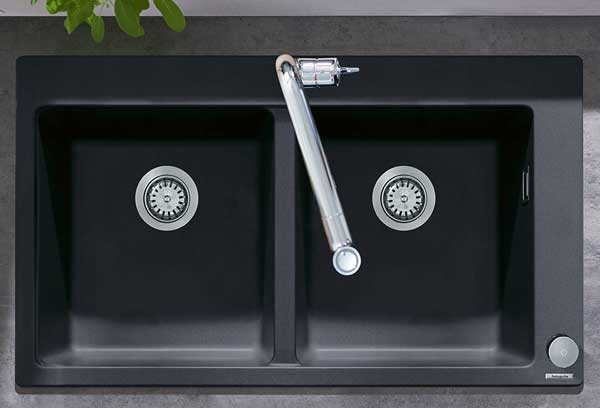 Hansgrohe Granite Double Kitchen Sink